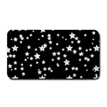 Black And White Starry Pattern Medium Bar Mats