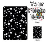 Black And White Starry Pattern Multi-purpose Cards (Rectangle)  Back 43