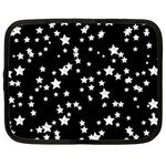 Black And White Starry Pattern Netbook Case (Large)