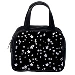 Black And White Starry Pattern Classic Handbags (One Side)