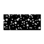 Black And White Starry Pattern Hand Towel