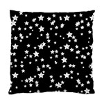 Black And White Starry Pattern Standard Cushion Case (One Side)