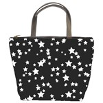 Black And White Starry Pattern Bucket Bags