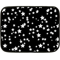 Black And White Starry Pattern Fleece Blanket (mini) by DanaeStudio