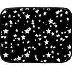 Black And White Starry Pattern Fleece Blanket (Mini)