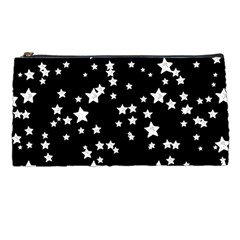 Black And White Starry Pattern Pencil Cases by DanaeStudio