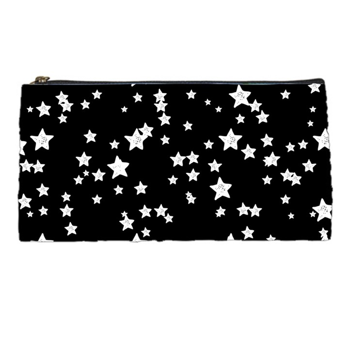 Black And White Starry Pattern Pencil Cases