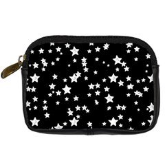 Black And White Starry Pattern Digital Camera Cases by DanaeStudio
