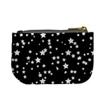 Black And White Starry Pattern Mini Coin Purses Back