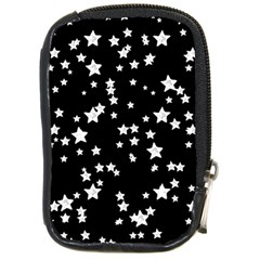 Black And White Starry Pattern Compact Camera Cases by DanaeStudio