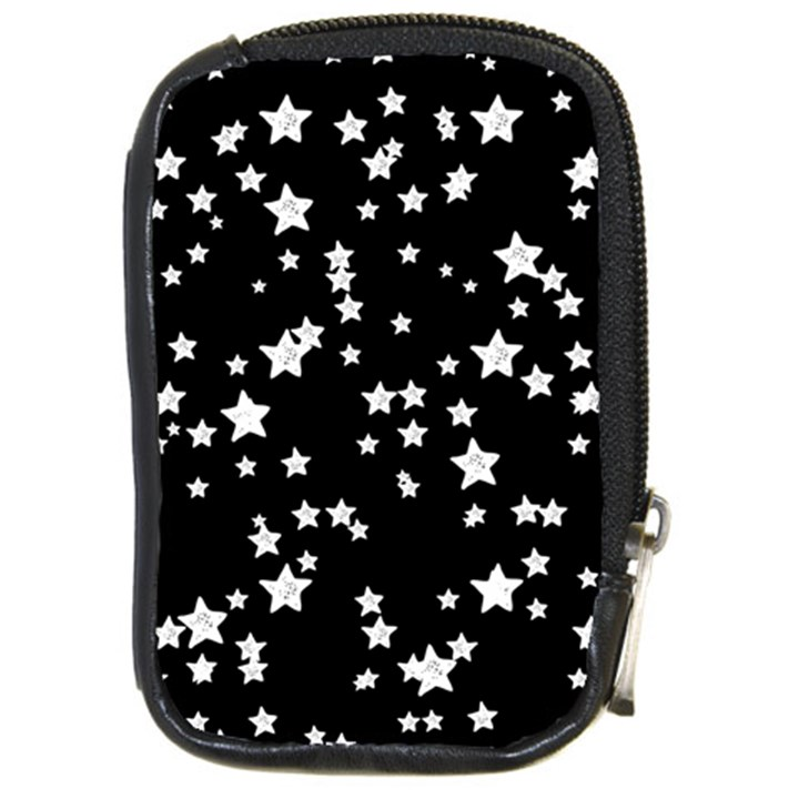 Black And White Starry Pattern Compact Camera Cases