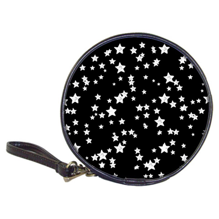 Black And White Starry Pattern Classic 20-CD Wallets