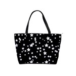 Black And White Starry Pattern Shoulder Handbags