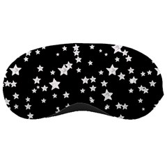 Black And White Starry Pattern Sleeping Masks by DanaeStudio