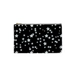 Black And White Starry Pattern Cosmetic Bag (Small)