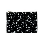 Black And White Starry Pattern Cosmetic Bag (Medium)