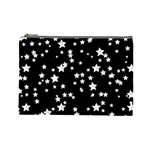 Black And White Starry Pattern Cosmetic Bag (Large)
