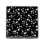 Black And White Starry Pattern Memory Card Reader (Square)