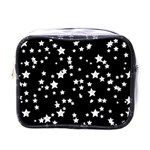 Black And White Starry Pattern Mini Toiletries Bags Front
