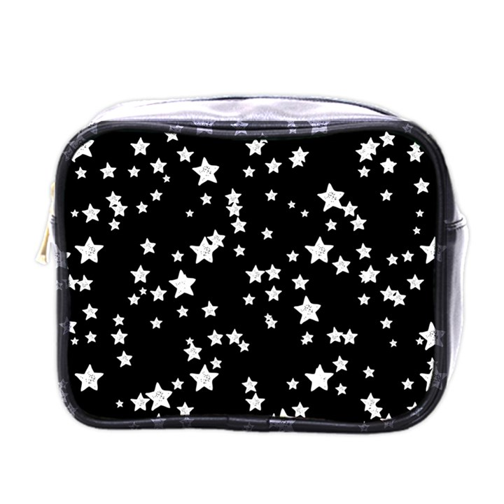 Black And White Starry Pattern Mini Toiletries Bags