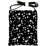 Black And White Starry Pattern Shoulder Sling Bags Front