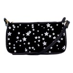 Black And White Starry Pattern Shoulder Clutch Bags Front