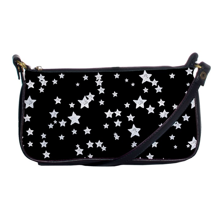 Black And White Starry Pattern Shoulder Clutch Bags