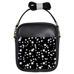 Black And White Starry Pattern Girls Sling Bags