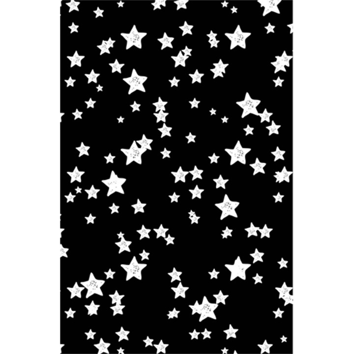Black And White Starry Pattern 5.5  x 8.5  Notebooks