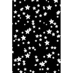 Black And White Starry Pattern 5.5  x 8.5  Notebooks Back Cover