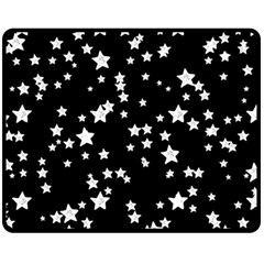 Black And White Starry Pattern Fleece Blanket (medium)  by DanaeStudio