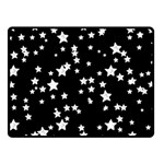 Black And White Starry Pattern Fleece Blanket (Small)