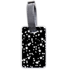 Black And White Starry Pattern Luggage Tags (two Sides) by DanaeStudio