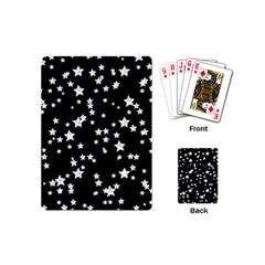 Black And White Starry Pattern Playing Cards (mini)  by DanaeStudio