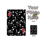 Black And White Starry Pattern Playing Cards 54 (Mini)  Front - Heart2