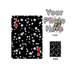 Black And White Starry Pattern Playing Cards 54 (Mini)  Front - Diamond7