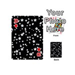 Black And White Starry Pattern Playing Cards 54 (Mini)  Front - Diamond10