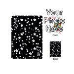 Black And White Starry Pattern Playing Cards 54 (Mini)  Front - Spade7