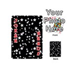 Black And White Starry Pattern Playing Cards 54 (Mini)  Front - Joker2