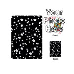 Black And White Starry Pattern Playing Cards 54 (Mini)  Back