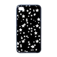 Black And White Starry Pattern Apple Iphone 4 Case (black) by DanaeStudio