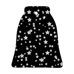 Black And White Starry Pattern Bell Ornament (2 Sides) by DanaeStudio