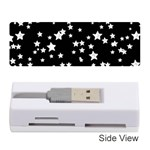 Black And White Starry Pattern Memory Card Reader (Stick)