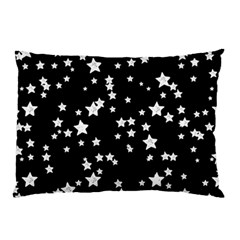 Black And White Starry Pattern Pillow Case (two Sides) by DanaeStudio