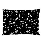 Black And White Starry Pattern Pillow Case (Two Sides) Back