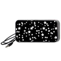 Black And White Starry Pattern Portable Speaker (Black)