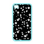 Black And White Starry Pattern Apple iPhone 4 Case (Color)