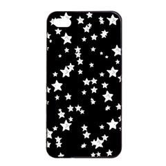Black And White Starry Pattern Apple Iphone 4/4s Seamless Case (black) by DanaeStudio