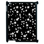Black And White Starry Pattern Apple iPad 2 Case (Black)