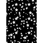 Black And White Starry Pattern Heart 3D Greeting Card (7x5) Inside